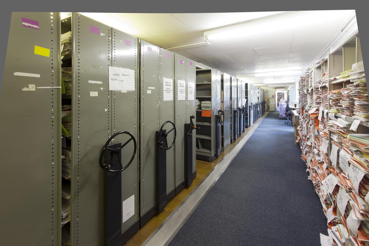Milton Keynes University Hospital's medical records library