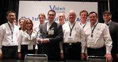 Newtec team receiving Satellite Markets and Research Vision Award