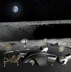 3D printed moon base SinterHab