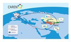 CAREN network topology map