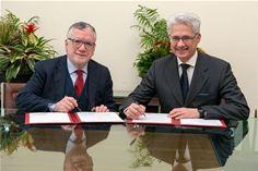 Massimo Inguscio, president of CNR and Stefano Pileri, CEO of Italtel