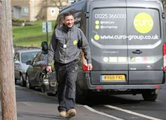 Curo van and employee