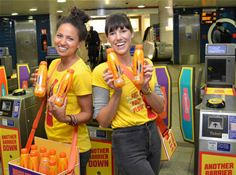 Promotion team for the Lucozade Energy/TfL campaign
