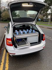 The ESN Assure drive test equipment, comprising of LTE scanner hardware and software, ESN devices housed in a ruggedised case and installed in a telent test vehicle. The multiple handheld devices simulate ESN usage of multiple users.