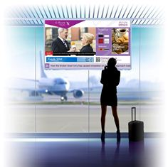 Exterity display solution featuring Ekioh technology in an airport