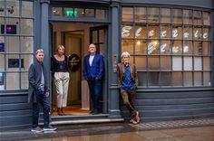 L-R Simon Orpin, Pippa Glucklich, Kevin Brown, Sir John Hegarty