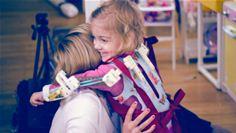 Emma hugging Mom
