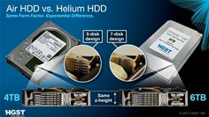HGST Air Vs Helium HDD