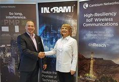 Kristijan Fabina, Regional Sales Manager at Cambium Networks, with Ana Blazinic, Managing Director Croatia at Ingram Micro