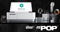 LUNDI MATIN présente sa solution de caisse tactile RoverCash sur le stand de Star Micronics lors du salon Paris Retail Week 2017