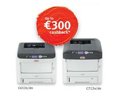 Up to €300 cashback available on selected High Definition Colour printers until 31st July