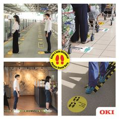 OKI Social Distancing Signage Across Industries