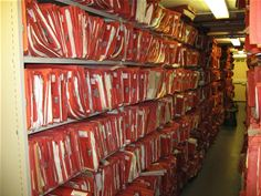 Old patient records library