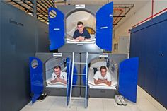 Interxion engineers test out the sleeping pods