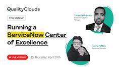 Running a ServiceNow Center of Excellence Webinar