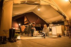 Ready Camp Tent Interior