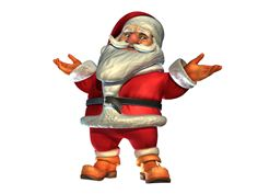 Greetings3D Santa Claus