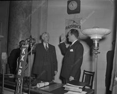 Arkansas State Archives: Sid McMath Taking Gubernatorial Oath of Office