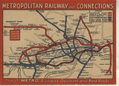 The original Metroploitan Line map