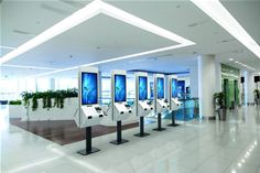 Panasonic interactive touch-screen kiosk