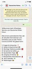 WhatsApp bot for the German Red Cross