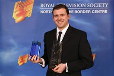 Jason Collins from ZeroLight collects Royal Television Society Award for Innovation
