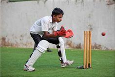 Catching cricket ball
