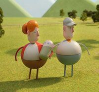Farmer Family created on Dimension 3D Printer by Artem for Chipotle Back to the Start commercial