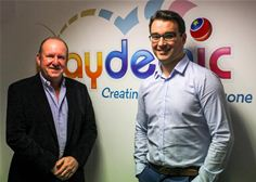 Ian Livingstone and Paul Gouge at the Playdemic Studio