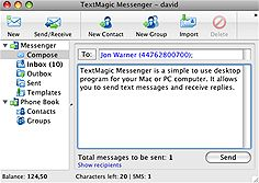 TextMagic Releases New SMS Text Messaging Software for Mac OS X