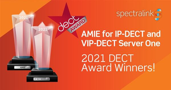 Spectralink wins DECT 2021 accolades for Enterprise Wireless Technology Solutions