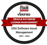 USU Certified for Oracle Database License Management by ITAM Review