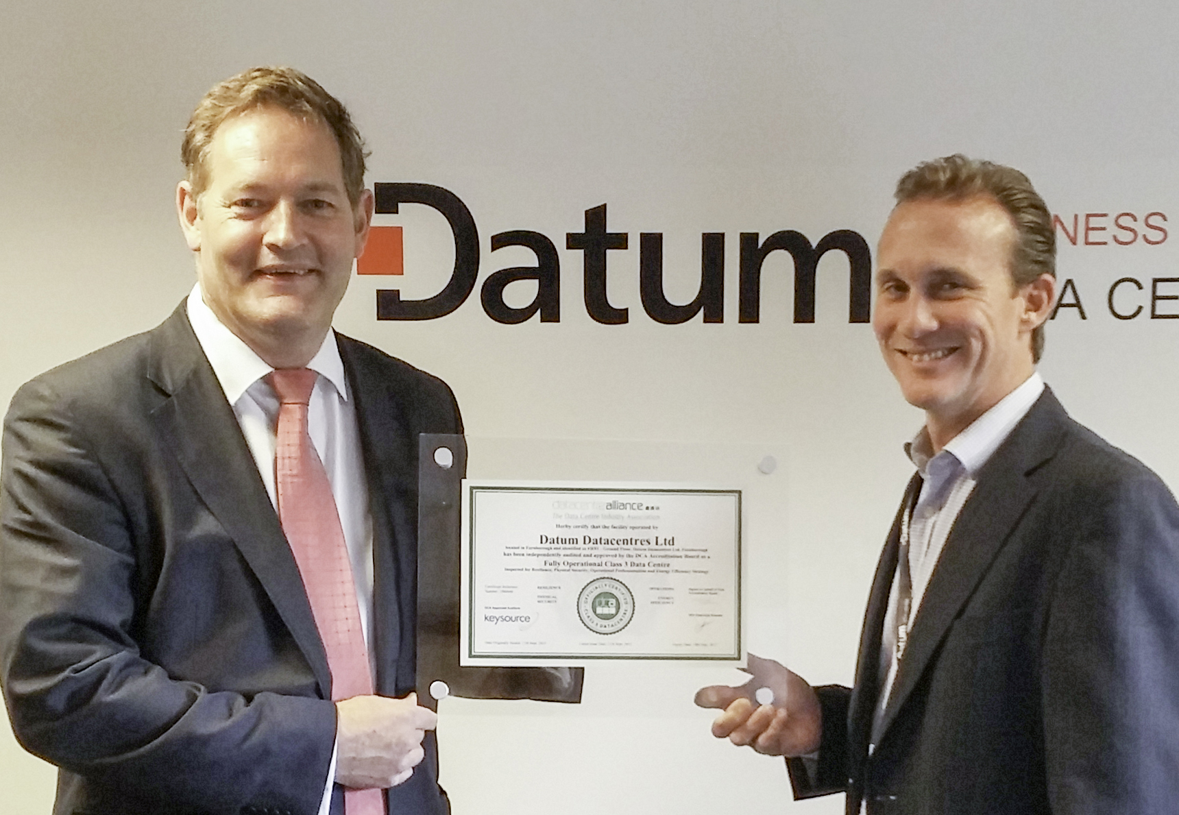 Datum awarded dca certificate realwire realresource new dca certification awarded to datum frn1 data centre 1betcityfo Image collections