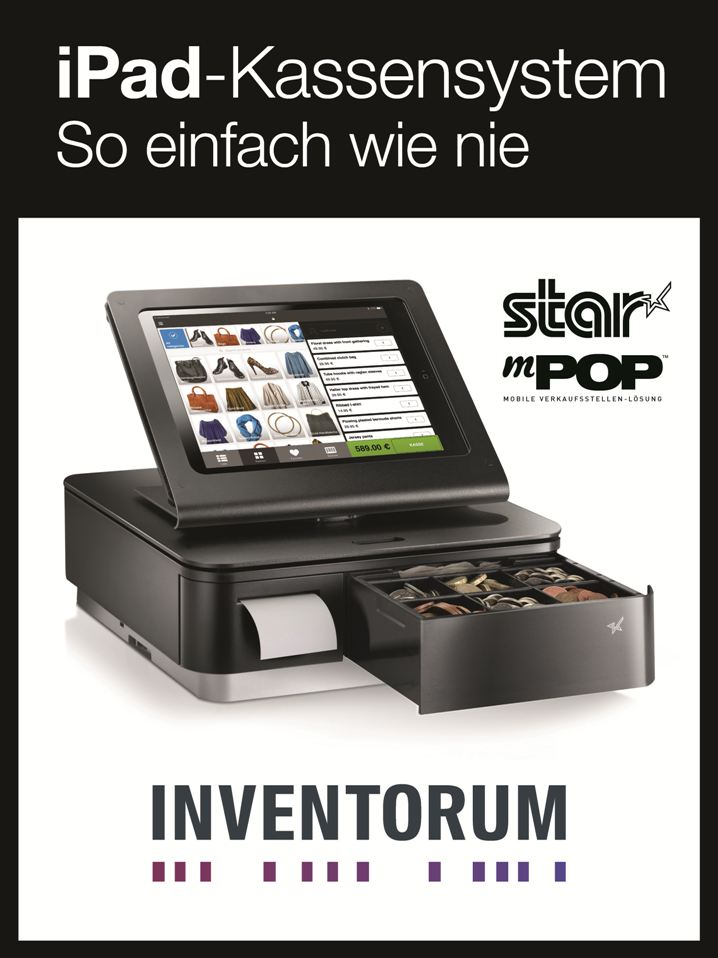 INVENTORUM zeigt sein leistungsstarkes iPad POS System in Kombination mit Star´s mPOP™ im Star Micronics Showroom in Frankfurt