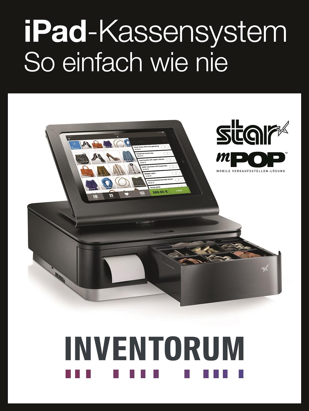 INVENTORUM_Star INVENTORUM zeigt sein leistungsstarkes iPad POS System zusammen mit Star auf der EuroCIS 2018 - Halle 9 / A14
