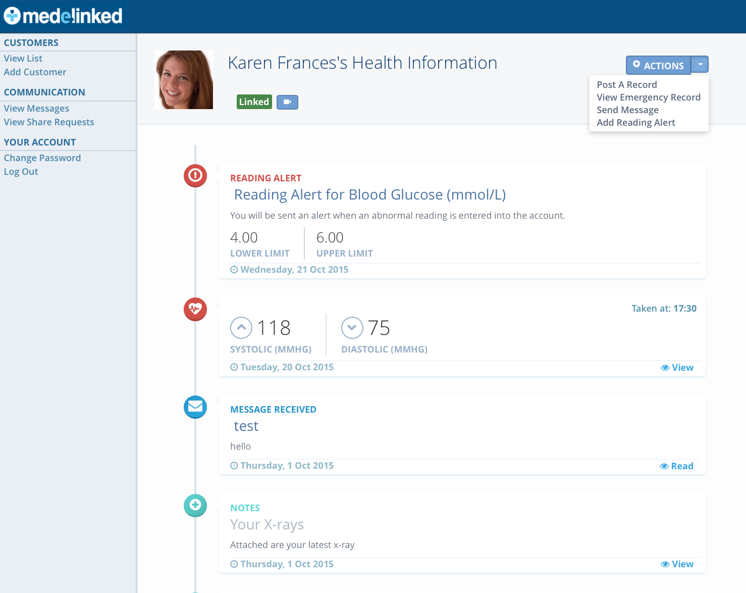 medelinked personal health timeline realwire realresource