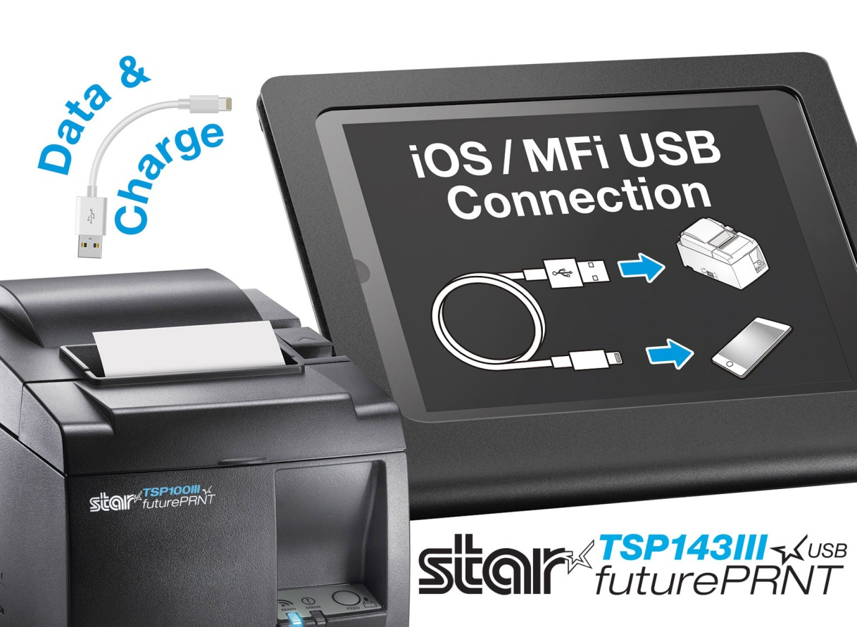 Star Micronics Revolutionises Pos Terminal Device Choice With Direct Ipod Usb Connector Wiring Connection Printer Solution Today To Communicate And Charge Simultaneously Directly An Ipad Or Iphone Removing The Insecurity Of Wireless