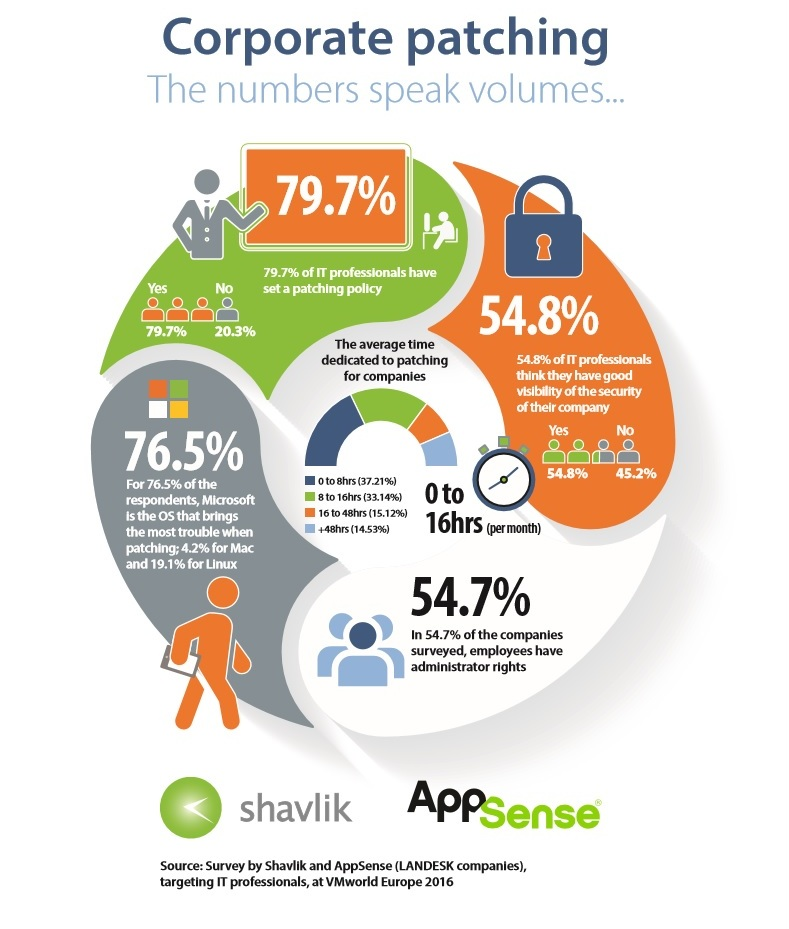 Shavlik and AppSense survey: Security and patch management remain major concerns for companies