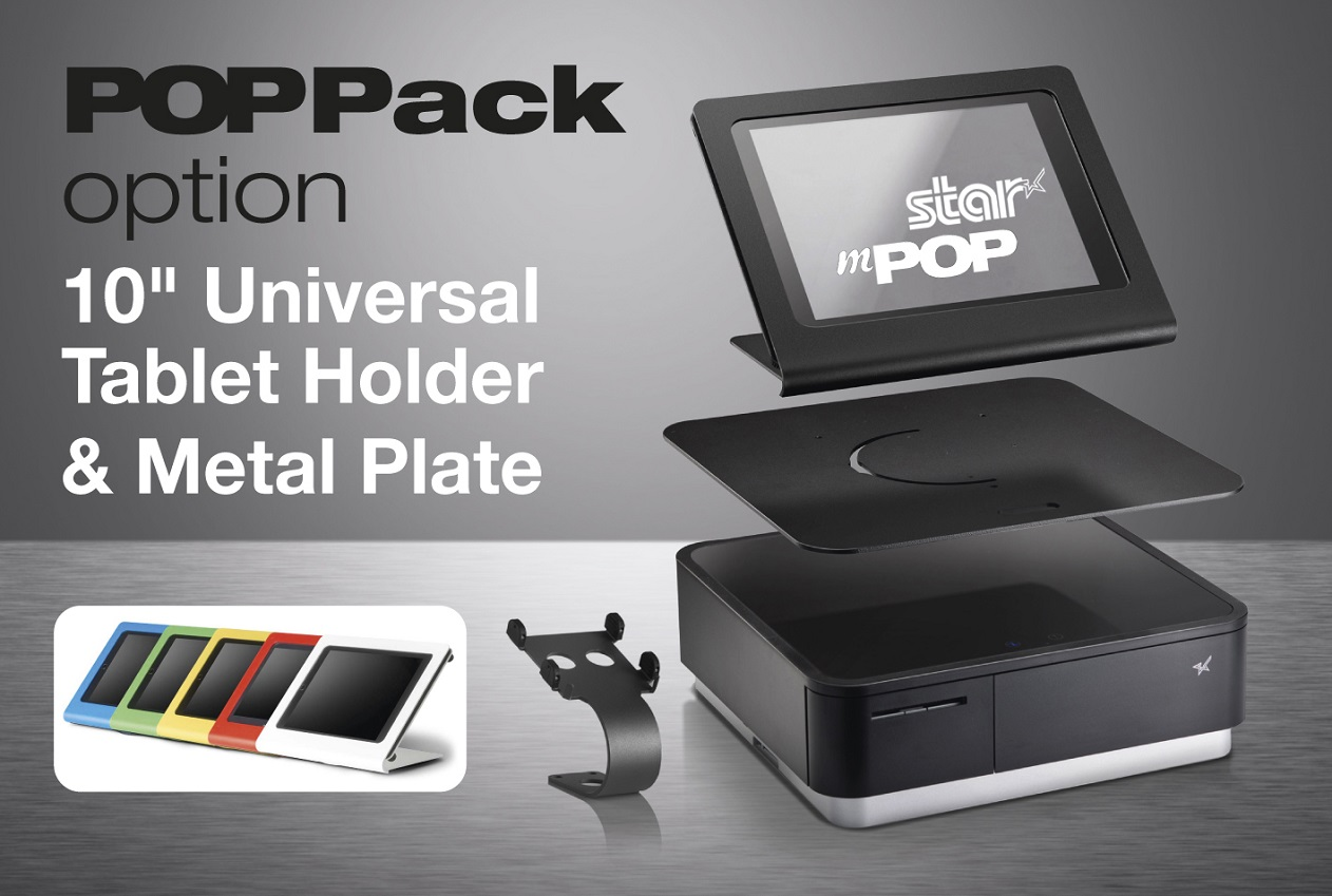 Star Micronics enhances unique combined Bluetooth printer and cash drawer solution with POPPack option to create flexible and stylish mPOS station