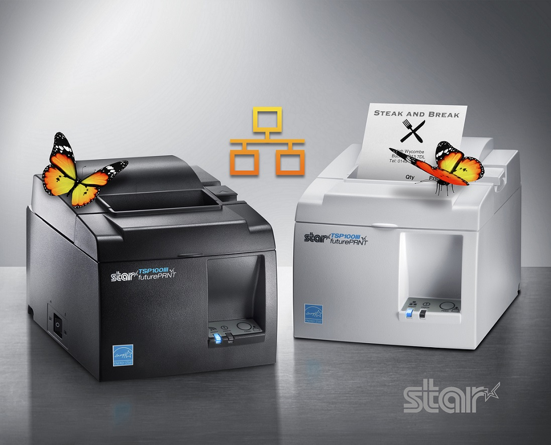 New, feature-rich TSP143III LAN Ethernet printer from Star Micronics offers High Print Speed, Digital Receipting and all Accessories in the Box